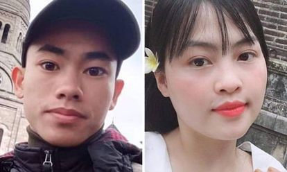 Nguyen Dinh Luong (à esquerda) e Pham Thi Tra My, cujos parentes temem que estejam entre as vítimas.