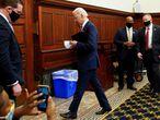 El candidato presidencial demócrata Joe Biden, en Filadelfia.