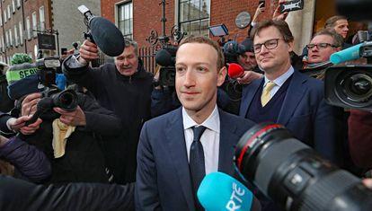 O fundador do Facebook, Mark Zuckerberg, na última terça-feira em Dublin, após um encontro sobre a regulação da rede social