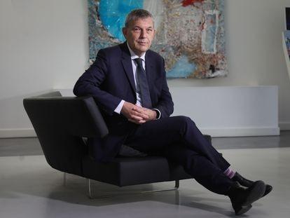 Philippe Lazzarini, comissário-geral da ACNUR para a Palestina, em um hotel em Madri na quarta-feira, após a entrevista.