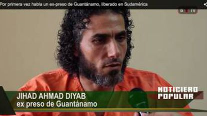 O sírio Diyab em entrevista a um canal argentino no ano passado.