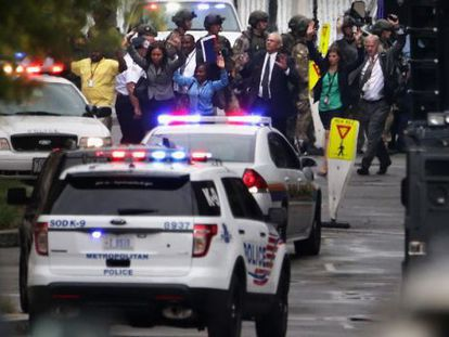 Local do tiroteio que matou 12 pessoas em 2013 em Washington.