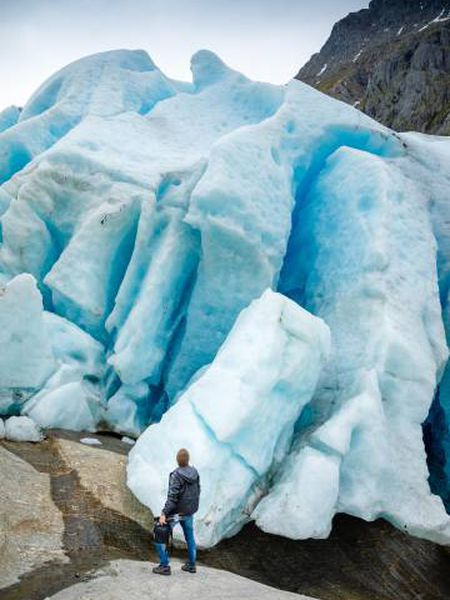 O glaciar Svartisen, em Nordland (Noruega).