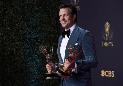 Jason Sudeikis, vencedor do Emmy de melhor ator por sua atuação em 'Ted Lasso'.