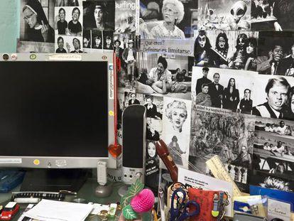 Objetos pessoais do quarto de Ariadna, uma garota de 18 anos que se suicidou em Madri