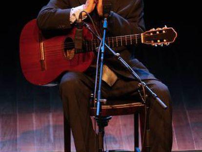 João Gilberto, em um concerto em 2008, em São Paulo.