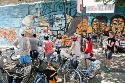 Biking Buenos Aires.