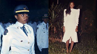 Denice Santiago no baile de formatura de sargentos da Polícia Militar da Bahia, em 1992.