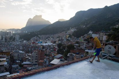 Vista da favela da Rocinha, no Rio de Janeiro.