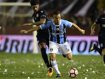 Arthur, na final da última Copa Libertadores