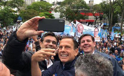 João Doria em evento de campanha em São Bernardo do Campo no sábado.
