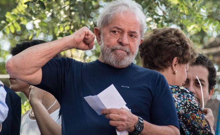 O ex-presidente Lula, no dia em que ele foi preso, em uma imagem de arquivo.