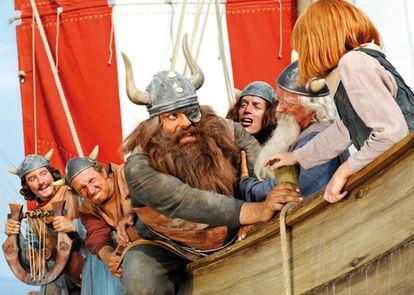 O filme 'Vicky, o Viking' (2009) é mais um exemplo de que os vikings sempre são representados com chifres no cinema.