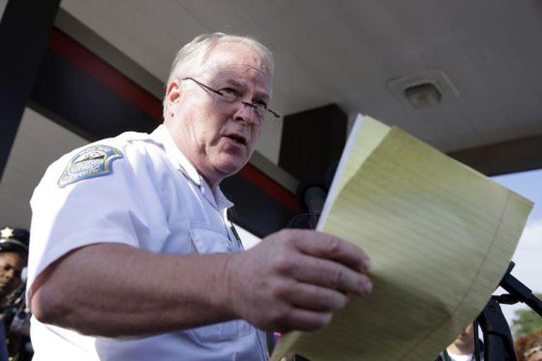 O chefe da polícia de Ferguson, Thomas Jackson.