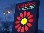 FILE PHOTO: The logo of Casino supermarket is pictured in Cannes, November 9, 2019.   REUTERS/Eric Gaillard/File Photo  GLOBAL BUSINESS WEEK AHEAD