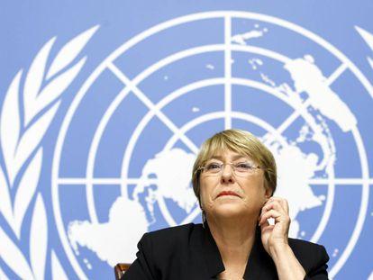A alta comissária de Direitos Humanos da ONU, Michelle Bachelet, nesta quarta.