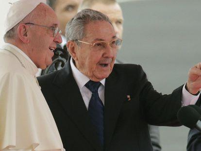 Chegada do Papa a Havana.