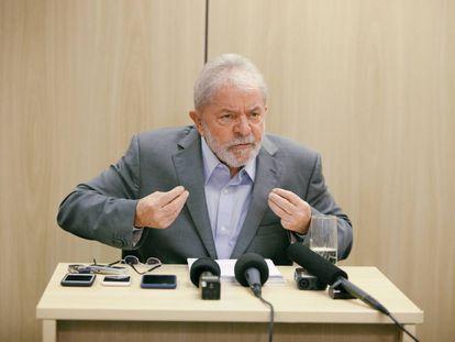 Lula durante a entrevista desta sexta.