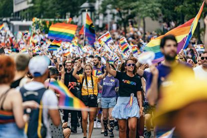 Manifestação do Orgulho em Montreal (Canadá), em 18 de agosto.