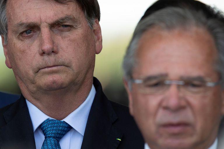 Bolsonaro e Paulo Guedes, no dia 28 de setembro.