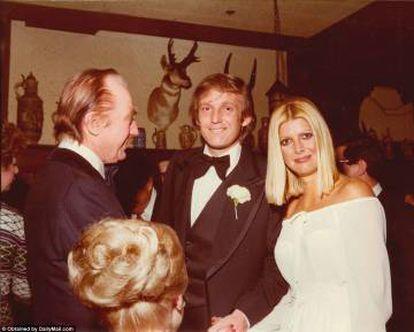 O pai, Trump e Ivana.