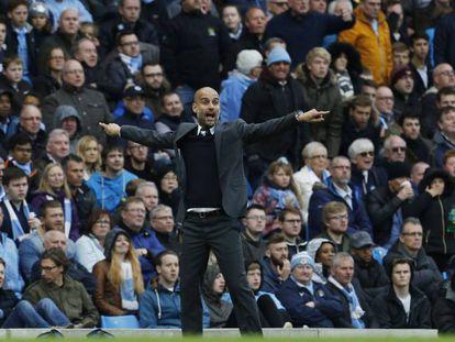 Guardiola, no empate contra o Southampton (1-1).