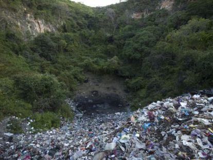 Lixão municipal de Cocula, onde jovens foram mortos.