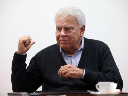 Felipe González durante entrevista ao EL PAÍS.