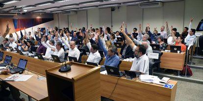 Votação do Conselho Universitário.