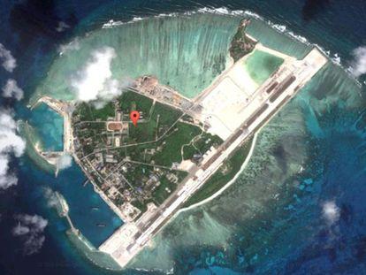 Vista aérea da ilha de Woody. / GOOGLE