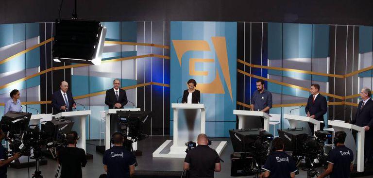 Debate entre os candidatos à Presidência na TV Gazeta.