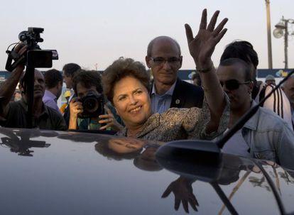 Dilma Rousseff, nesta sexta, no Rio de Janeiro.