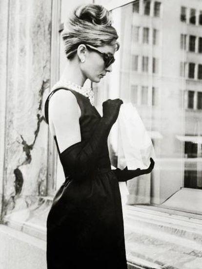 Audrey Hepburn em uma cena do filme ' Bonequinha de Luxo'.
