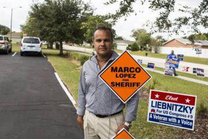 """O candidato a """"xerife"""" Marco López."""