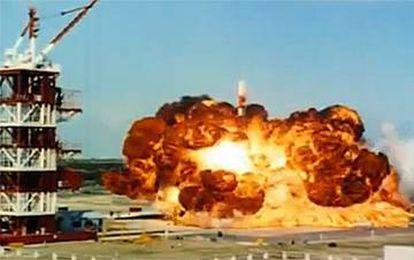 Explosão do Vanguard, após seu lançamento