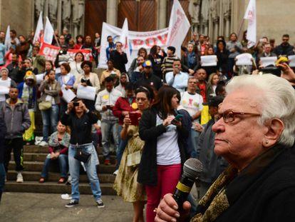 Erundina durante manifestação em 7 de setembro