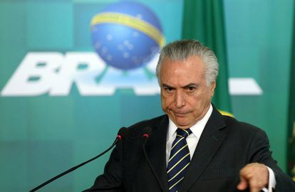 Temer, em evento no Planalto no dia 29.