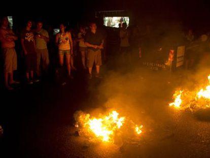 Protestas nas ruas de Buenos Aires pelos cortes de luz.