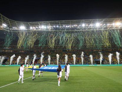 Allianz Parque no último jogo do Brasil nas eliminatórias, contra o Chile.