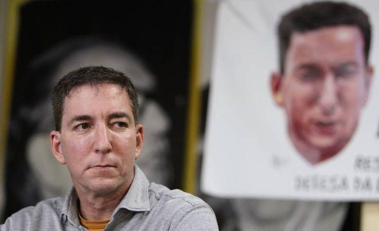 O jornalista Glenn Greenwald, nesta terça-feira no Rio de Janeiro.