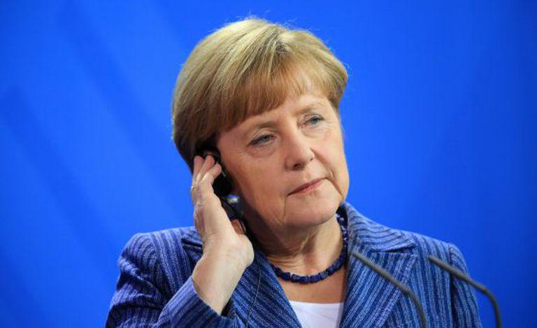 Angela Merkel, em uma conferência em julho, em Berlim.