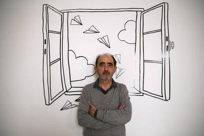 O filósofo Daniel Innerarity, após a entrevista em Madri.