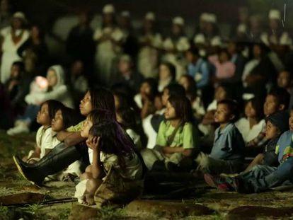 O dia em que o cinema chegou a uma aldeia indígena colombiana