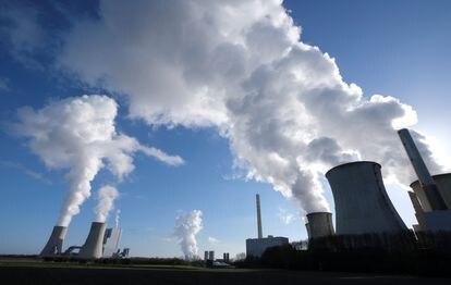 Uma usina de geração elétrica de carvão na Alemanha.