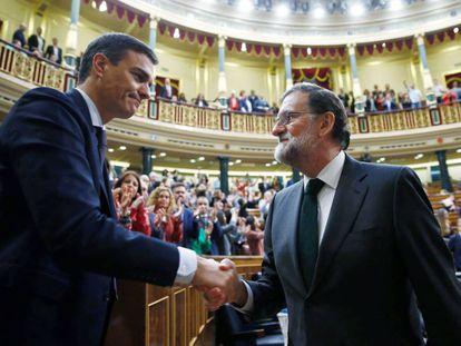 Mariano Rajoy felicita o novo premiê da Espanha, Pedro Sánchez.
