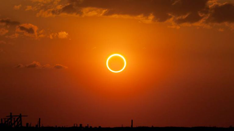 Eclipse solar anular do Novo México