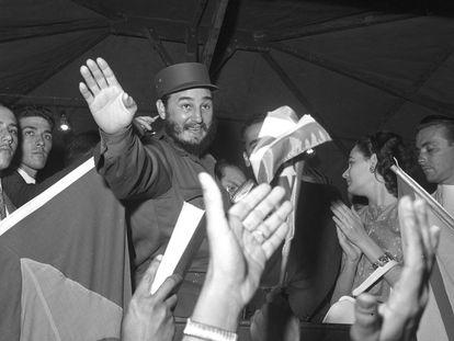 Fidel Castro visita o Brasil em maio de 1959, poucos meses depois de ter tomado o poder em Cuba.