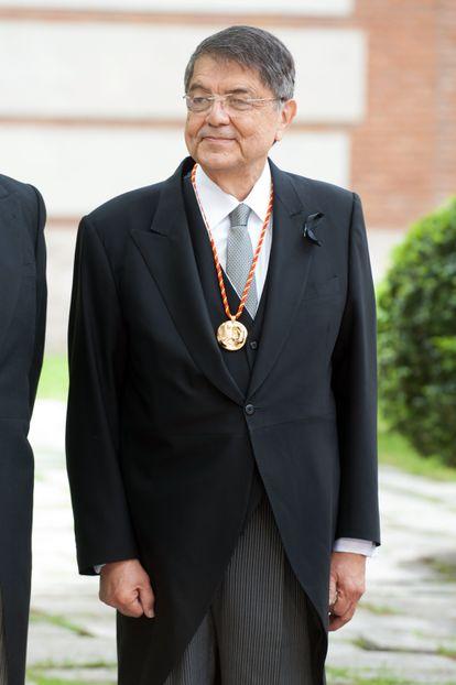 Ramírez, depois de receber o Prêmio Cervantes em abril de 2018.