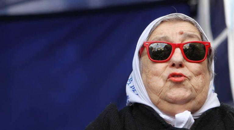 A presidenta das Mães da Praça de Mayo, Hebe de Bonafini