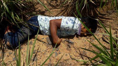O corpo do cacique Firmino Prexede Guajajara, assassinado no sábado, 7 de dezembro de 2019, no Maranhão.